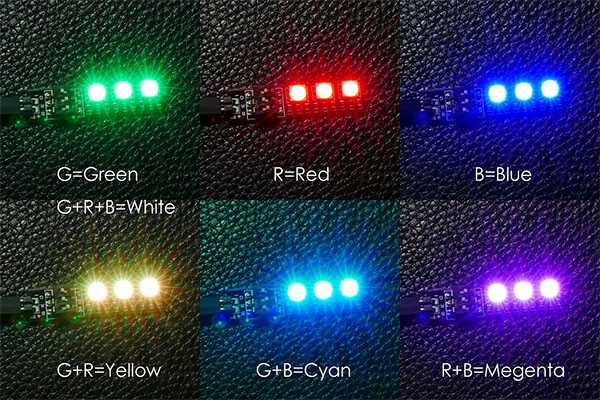 DIY RGB LED 7-color LED light board [10~13V] Multi-axis、Four axes LED lights Model aircraft [JTS Interfaces]
